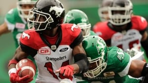 Stampeders set CFL record with win over Roughriders
