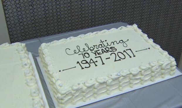 Grandview Lanes 70th birthday cake