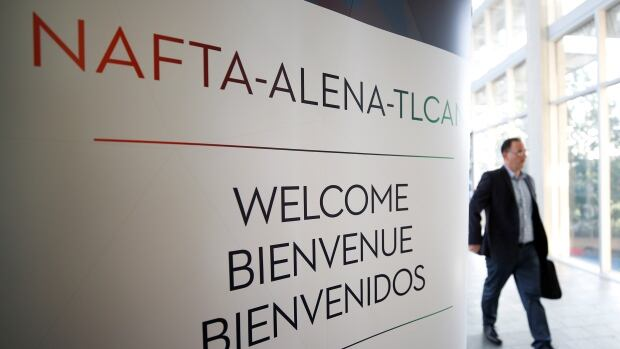 A sign is pictured where the third round of NAFTA talks involving the United States, Mexico and Canada is taking place in Ottawa, Ontario, Canada, September 23, 2017.