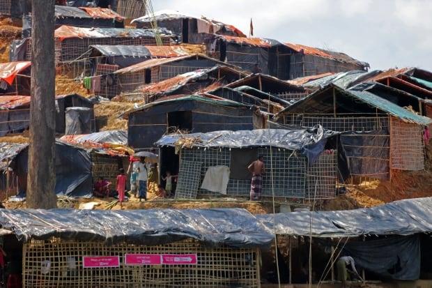 Rohingya makeshift village