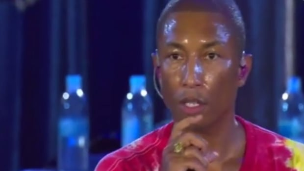 Mid-performance at Sunday's A Concert For Charlottesville, singer Pharrell Williams dropped to his knees, echoing the gestures of protest made by more than 200 professional athletes, coaches, team owners and entertainers such as Stevie Wonder this past weekend.