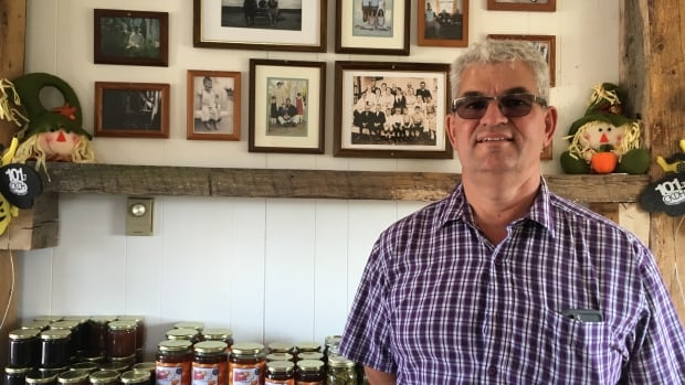 Tom Trueman, an eighth-generation farmer, discovered the break-in at his farmstand on Monday morning.,