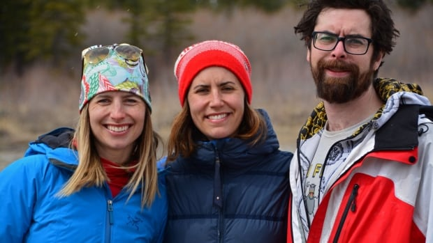 Canadian biathlete Rosanna Crawford, centre, with brother Jordan, right, and sister Chandra, left. Jordan Crawford died of a suspected alcohol overdose on April 17 in Calgary. He was 30.