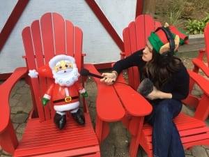 Acey interviews decoy Santa