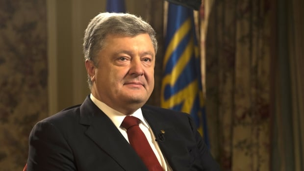 Ukraine President Petro Poroshenko says Canada should be a part of any UN peacekeeping mission to his country.