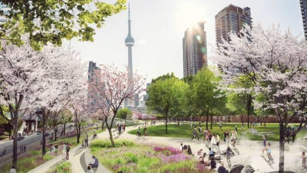 The Toronto Blue Jays are the latest booster for the city's Rail Deck Park plans.