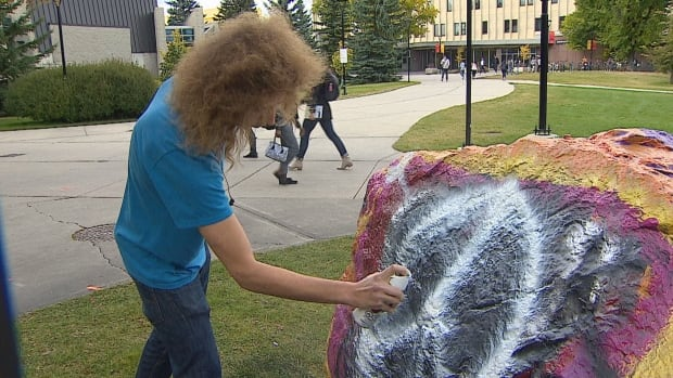 University of Calgary rock painting