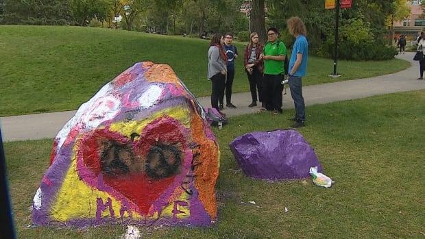 The rocks, University of Calgary