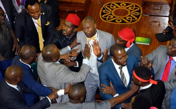 Uganda-parliament-brawl
