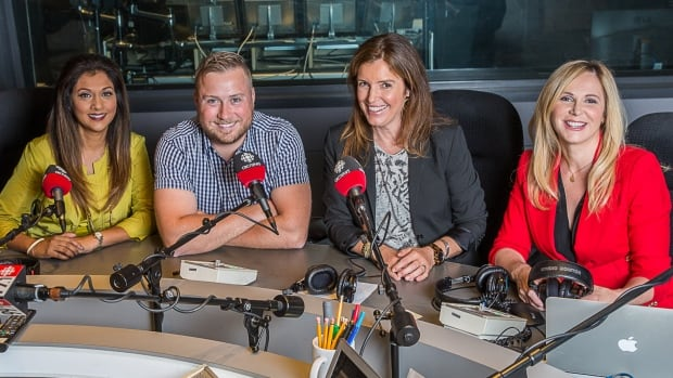 From left to right: CBC Toronto's Karen Johnson, Matt Llewellyn, Gill Deacon and Colette Kennedy.