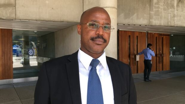 Caleb Mabano, president of the Rwandan Community Abroad Toronto, says flying the Rwandan flag is part of the healing process for genocide survivors.