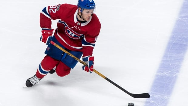 Montreal Canadien Jonathan Drouin was acquired through an off-season trade with the Tampa Bay Lightning.