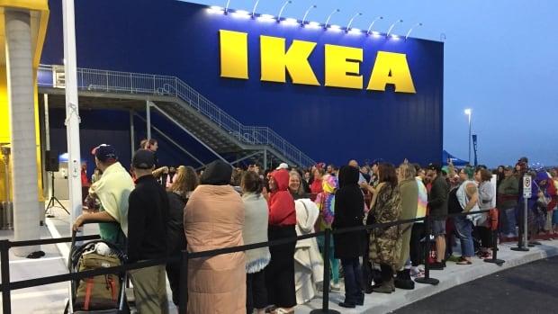 Ikea lineup in Halifax