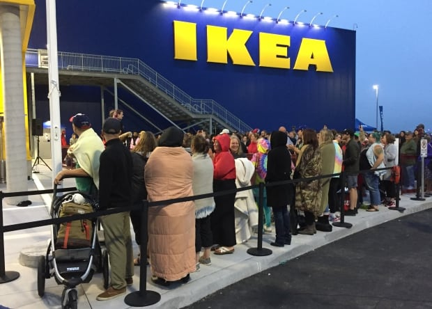 here are some of the people who waited hours for ikea to open nova scotia cbc news. Black Bedroom Furniture Sets. Home Design Ideas
