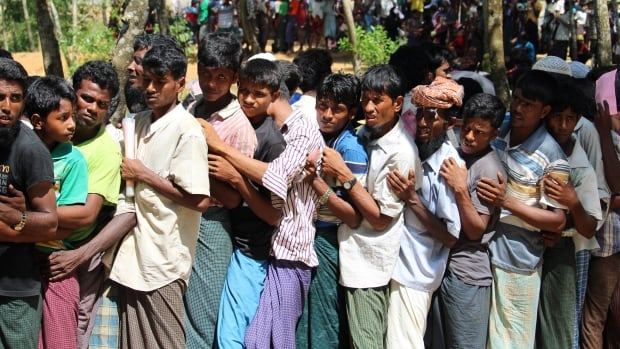 Nearly 600,000 Rohingya refugees have fled Myanmar for Bangladesh since late August.