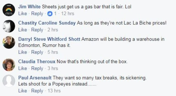Facebook reaction to Amazon pitch
