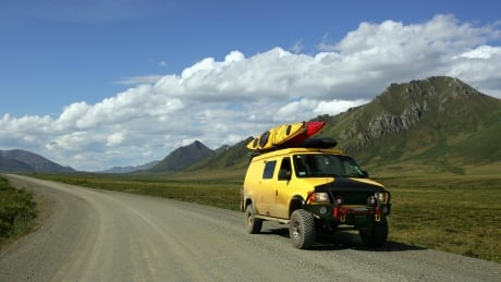 car on dempster highway