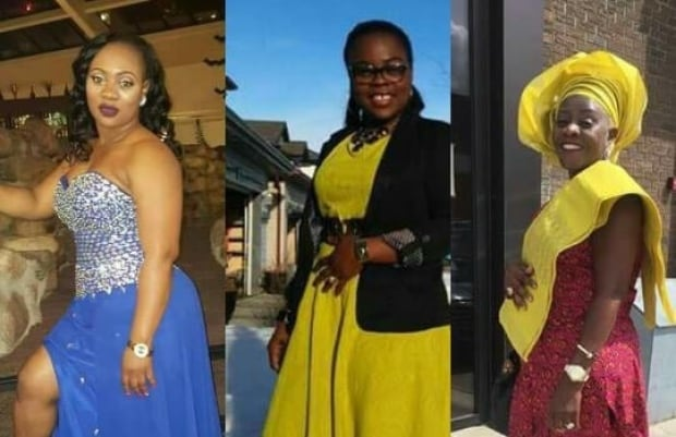 Eva Fatu Tumbay (left), Glorious Blamo (centre) and Jeanette Wright (right)