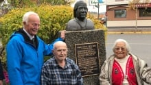 Ida Calmegane, right, Henry Calmegane, centre and Doug Phillips