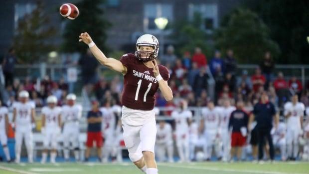 Saint Mary's University quarterback Kaleb Scott.