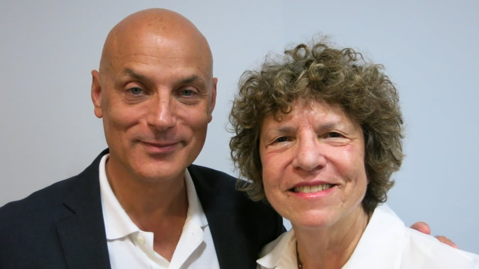 Eleanor Wachtel with writer Daniel Mendelsohn in Toronto.