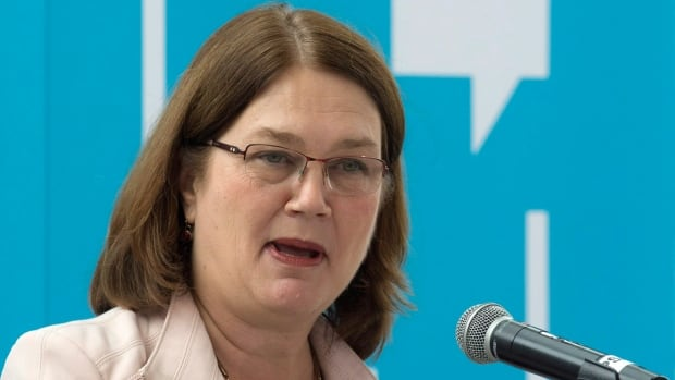 Indigenous Services Minister Jane Philpott delivers a speech in Ottawa on  Sept. 27. Philpott says she's working with First Nations leaders to better track opioid abuse and overdoses.