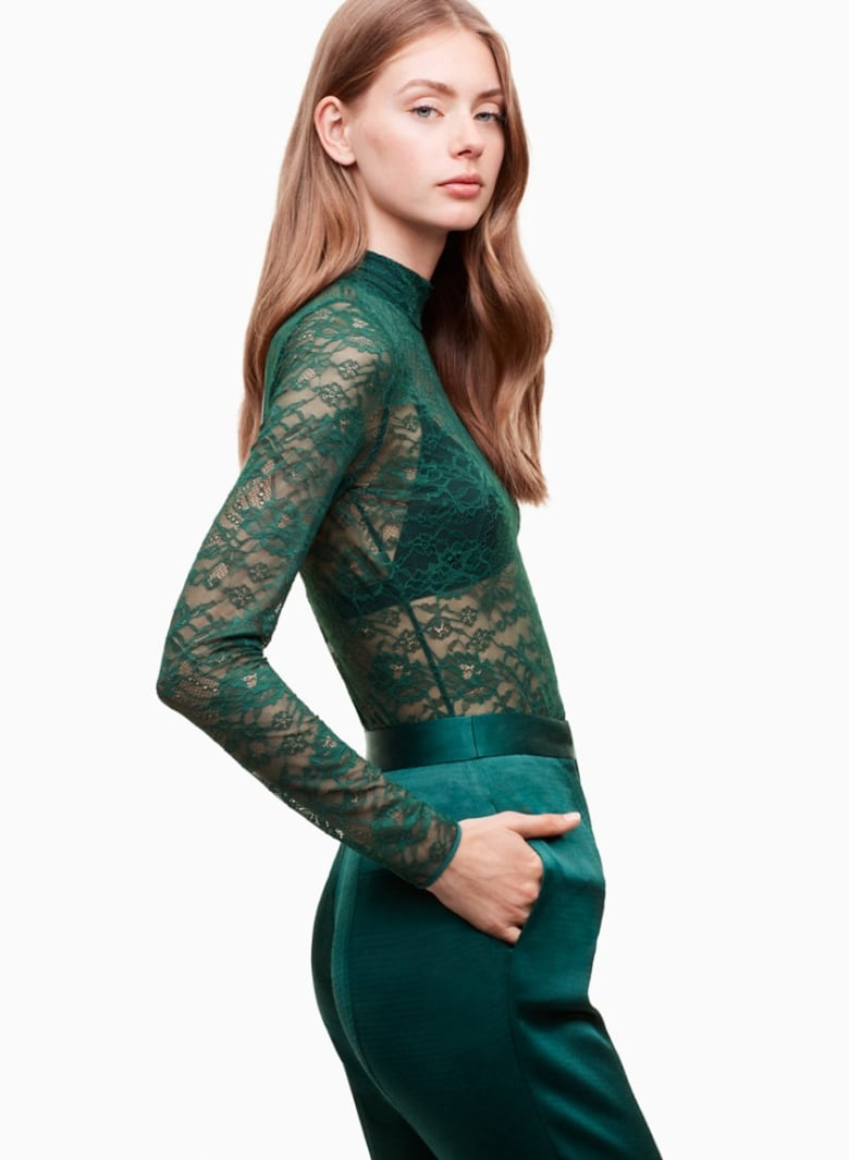 6ae1e69dcc ... wore a custom emerald green gown to the Emmy s we can t stop thinking  about jewel tones. Aritzia is delivering with this gorgeous stretch-lace top  with ...