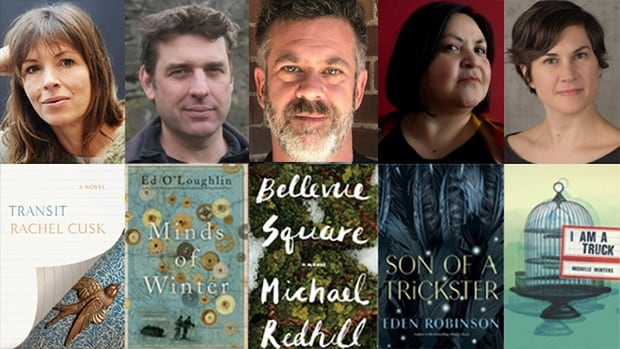 From left to right: Rachel Cusk, Ed O'Loughlin, Michael Redhill, Eden Robinson and Michelle Winters are vying for this year's $100,000 Scotiabank Giller Prize