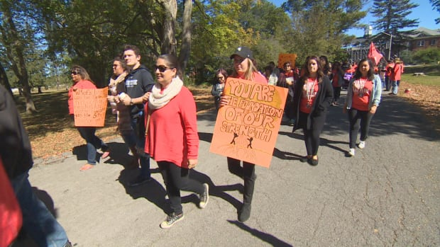 Hundreds of residential school survivors and supporters from across Ontario and Quebec went to Brantford, Ont., take part in a healing walk at Mohawk Institute, one of the oldest and longest running residential schools in Canada.