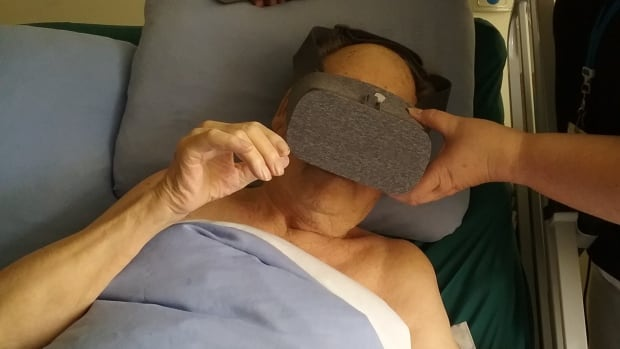 The first patient at Castlegar Hospice to try the virtual reality system was a 95-year-old man who chose to do a safari in Kenya.