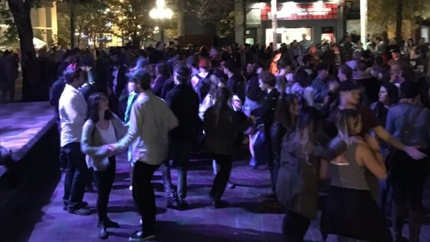 Several people were pepper sprayed during Nuit Blanche celebrations in Old Market Square.