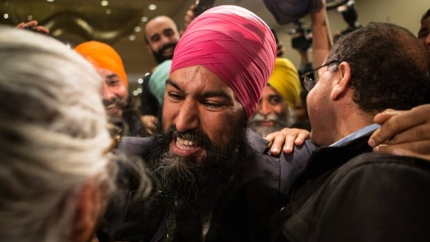 Jagmeet Singh became the new NDP leader on Sunday with 53.8 per cent of the vote on the first ballot.