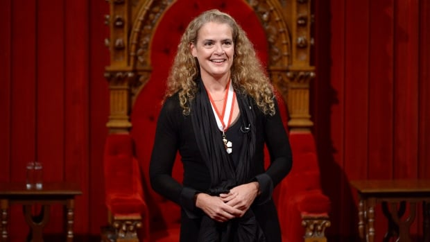 Julie Payette makes her first speech as Canada's 29th Governor General in the Senate chamber on Monday.