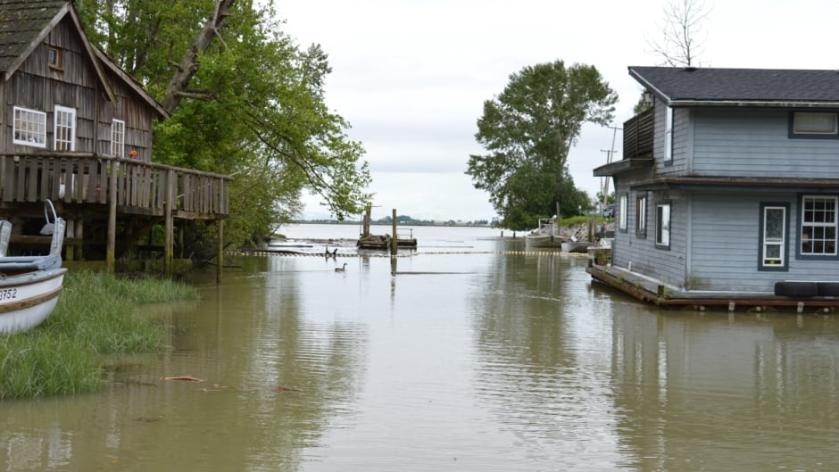 Waters are rising in the tiny community of Finn Slough, B.C., a historic fishing village situated just outside the dikes protecting the Greater Vancouver Area