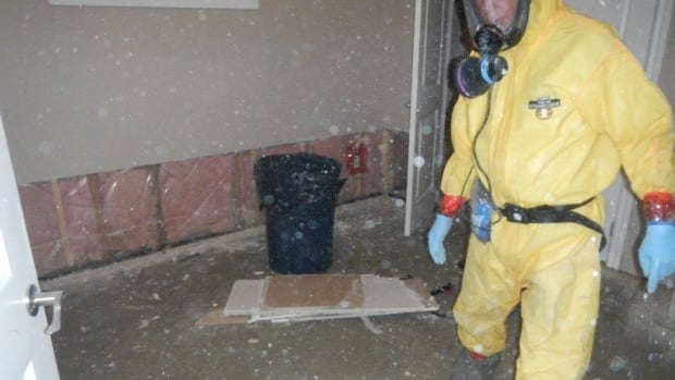 Dean May says you can see fentanyl particles when they are stirred up in this Edmonton drug house.