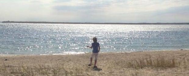 Lake Diefenbaker child fossil hunter