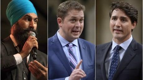 Singh, Scheer, Trudeau