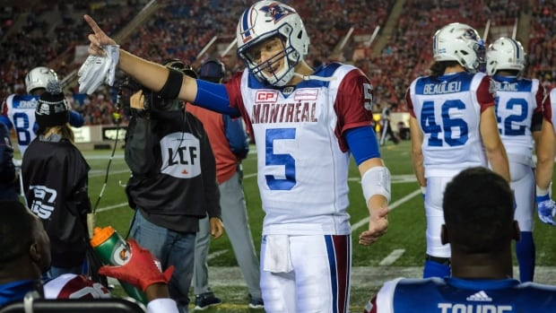 """""""We're down here. The top of the CFL Power Rankings are up there!"""" (That's what we imagine Montreal QB Drew Willy telling his teammates after another loss.)"""