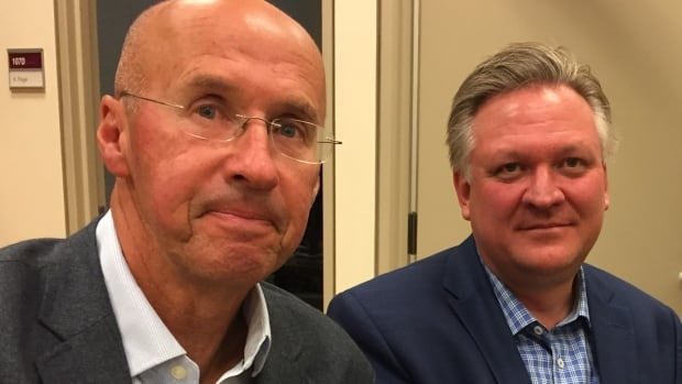 Former government executives Kevin Page, left, and Robert Shepherd say the current bureaucracy should learn lessons from the Phoenix fiasco as it crafts new procurement projects.