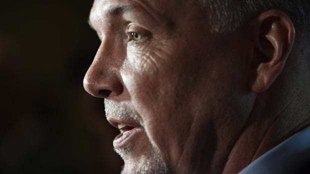 B.C. Premier John Horgan was asked by the CBC's Gloria Macarenko during his year-end interview on Thursday, Dec. 14, 2017, about the public comments he made on the firing of Richard Zussman.