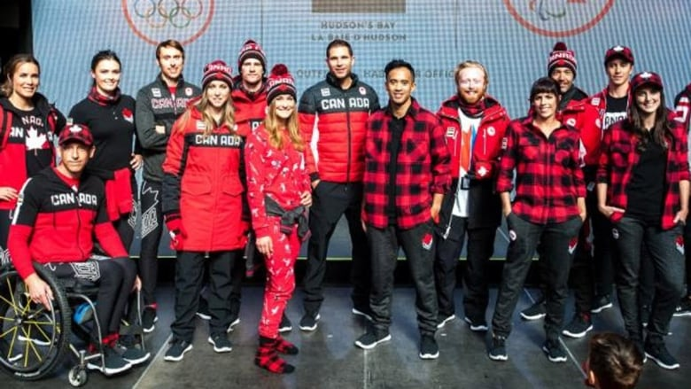 f9b86f2d250c Fifteen of Canada s hopefuls for the PyeongChang Winter Games in February  took to the runway at Toronto s Eaton Centre on Tuesday dressed in the  patriotic ...
