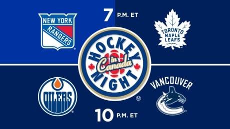 Hockey Night in Canada NYR vs TOR, EDM vs VAN