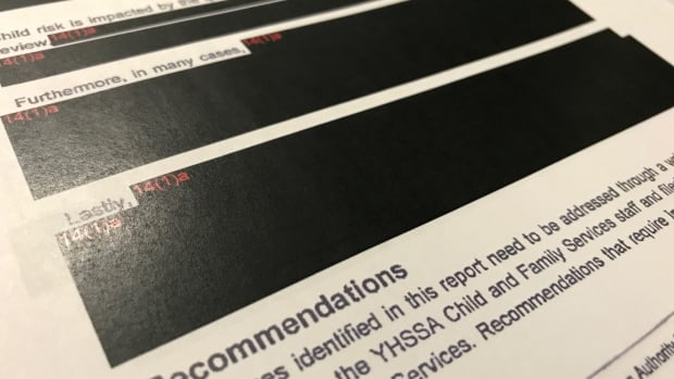 A heavily redacted Access to Information Request obtained by CBC North. The government is  promising to give more teeth to Canada's access to information watchdog.