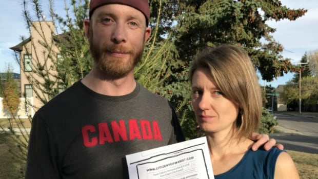 Greg Brown and Amy Lofting said they were surprised someone would go to the trouble of printing a flyer to discredit a council candidate at a recent election forum.