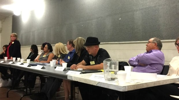 Eleven of the 45 candidates for the city's school board trustee seats engaged in a forum Tuesday.