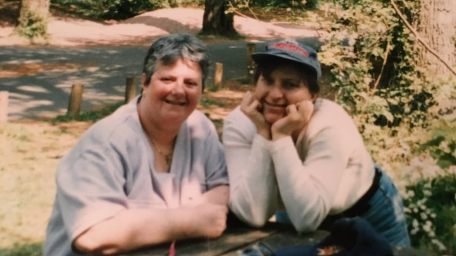 Patricia Nicholls with her daughter Julia Doherty at age 28.