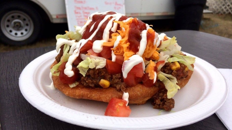 At powwows and Indigenous gatherings across North America you'll find someone selling Indian tacos. But not everyone is happy about it.