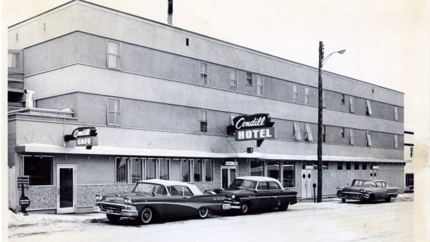 The Condill Hotel was the life of the party in downtown Fort St. John after it was built in 1942. Here it's seen in the 1960s.