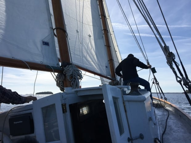 Trio sails the Wawaloon off Chester