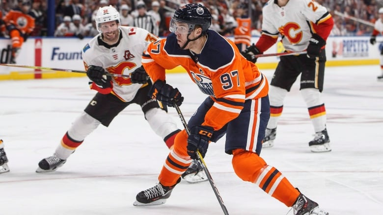 a5269dc578b Connor McDavid became the first player in franchise history to score three  goals on opening night as the Edmonton Oilers defeated the Calgary Flames  3-0.